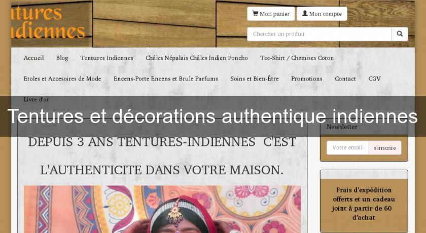 Tentures et décorations authentique indiennes