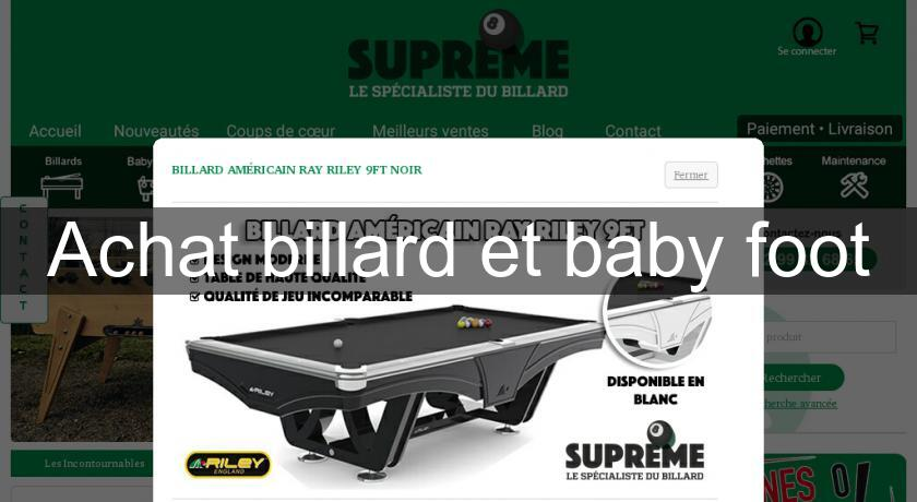 achat billard et baby foot loisirs animation. Black Bedroom Furniture Sets. Home Design Ideas