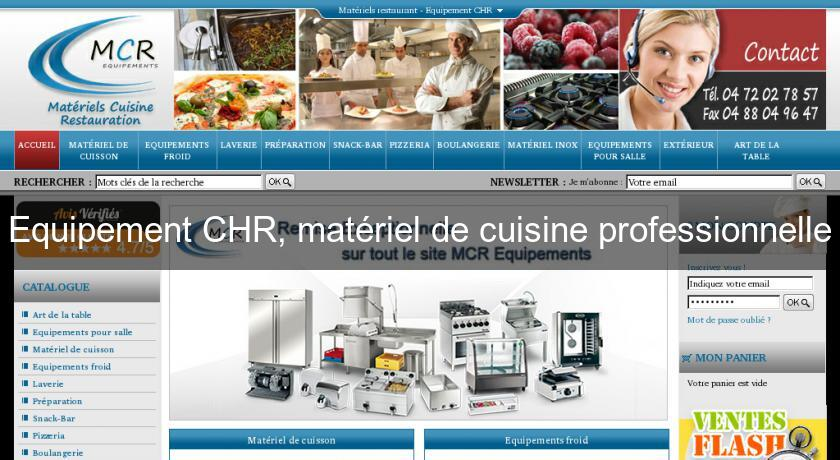 Equipement chr mat riel de cuisine professionnelle for Chr materiel cuisine