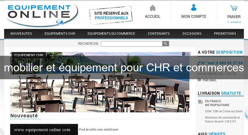 Mobilier et quipement pour chr et commerces mobilier bar for Equipement mobilier restaurant