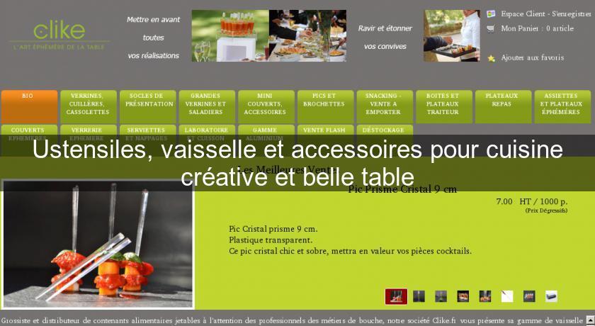 Ustensiles vaisselle et accessoires pour cuisine cr ative for Ustensiles pour restaurant