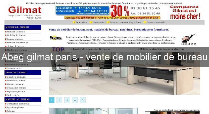 abeg gilmat paris vente de mobilier de bureau mobilier bureau. Black Bedroom Furniture Sets. Home Design Ideas