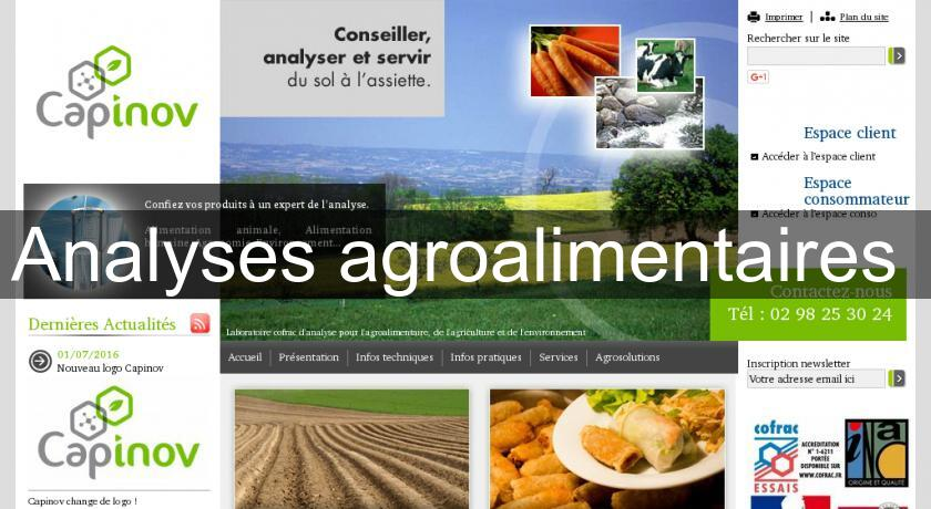 Analyses agroalimentaires