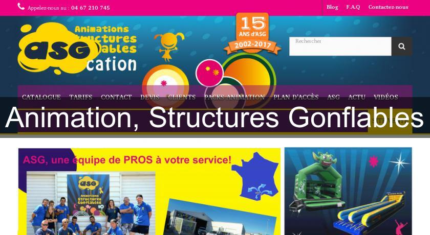 Animation, Structures Gonflables