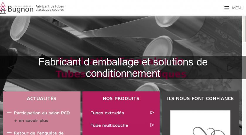 Fabricant d'emballage et solutions de conditionnement