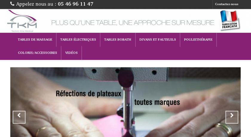 Fabricant tables médicales - TKM - Technic Kiné Medical