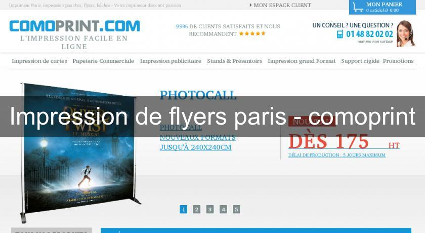 Impression de flyers paris - comoprint