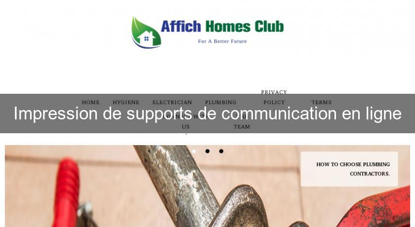 Impression de supports de communication en ligne