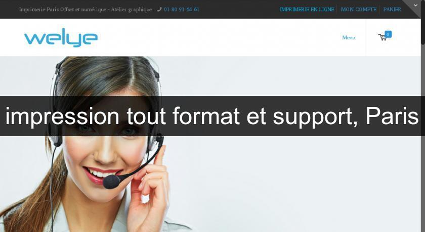 impression tout format et support, Paris