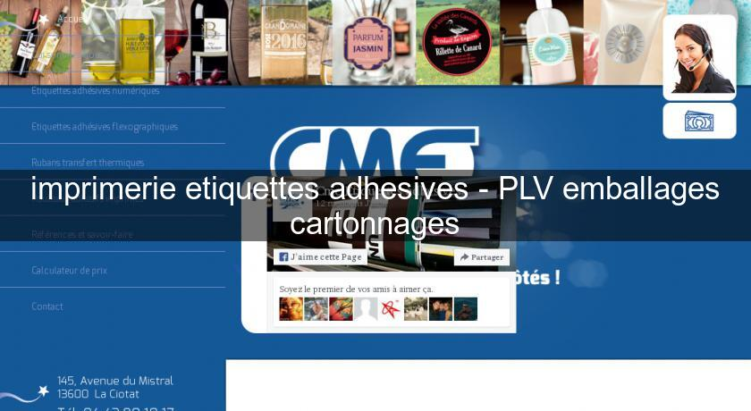 imprimerie etiquettes adhesives - PLV emballages cartonnages