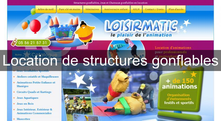 Location de structures gonflables