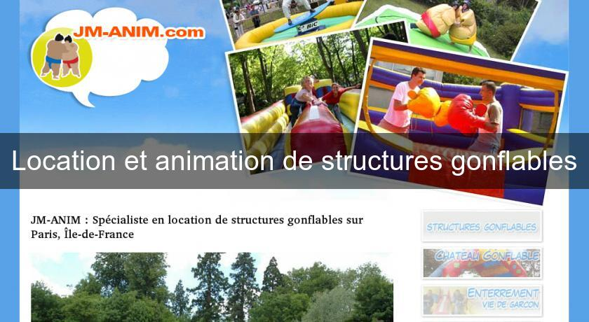 Location et animation de structures gonflables