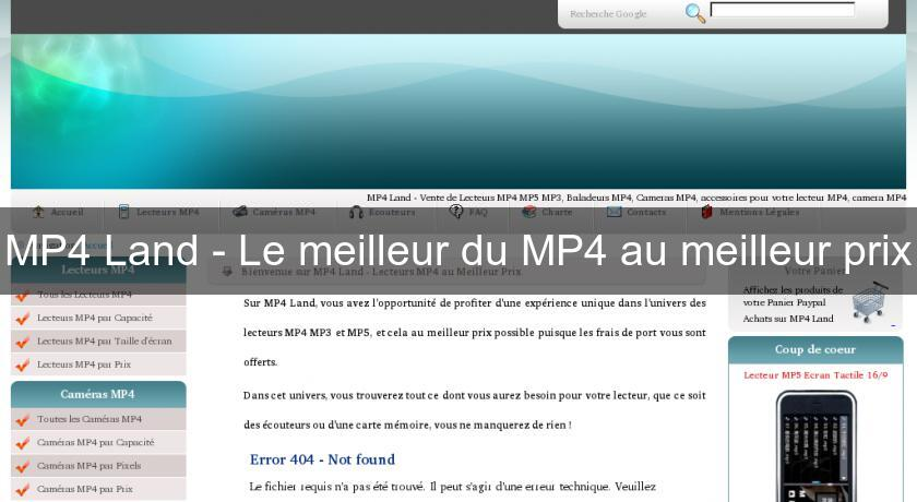 MP4 Land - Le meilleur du MP4 au meilleur prix
