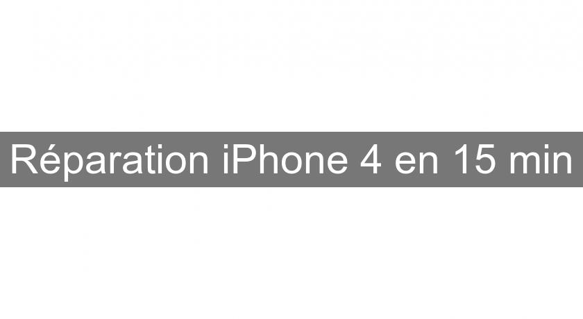 Réparation iPhone 4 en 15 min