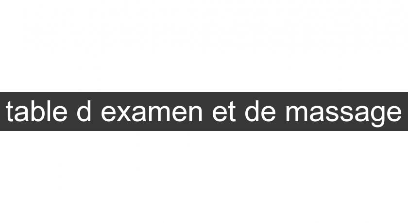 table d'examen et de massage