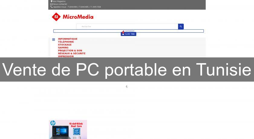 Vente de PC portable en Tunisie