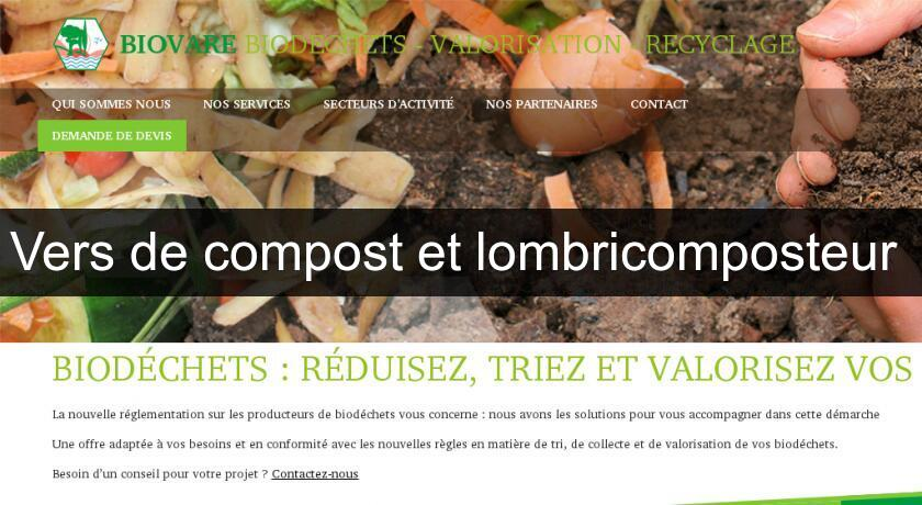 Vers de compost et lombricomposteur