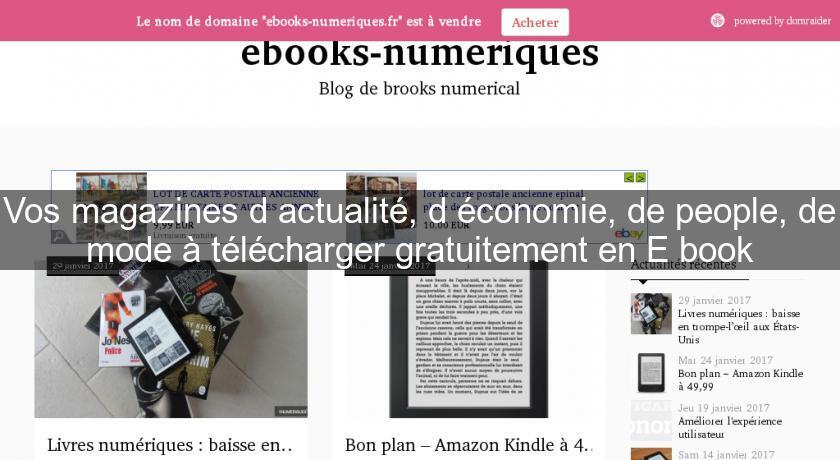 site telechargement magazine gratuit