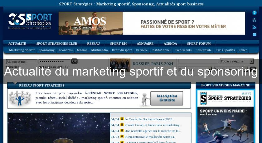 Actualité du marketing sportif et du sponsoring