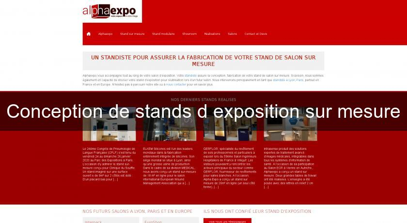 Conception de stands d'exposition sur mesure