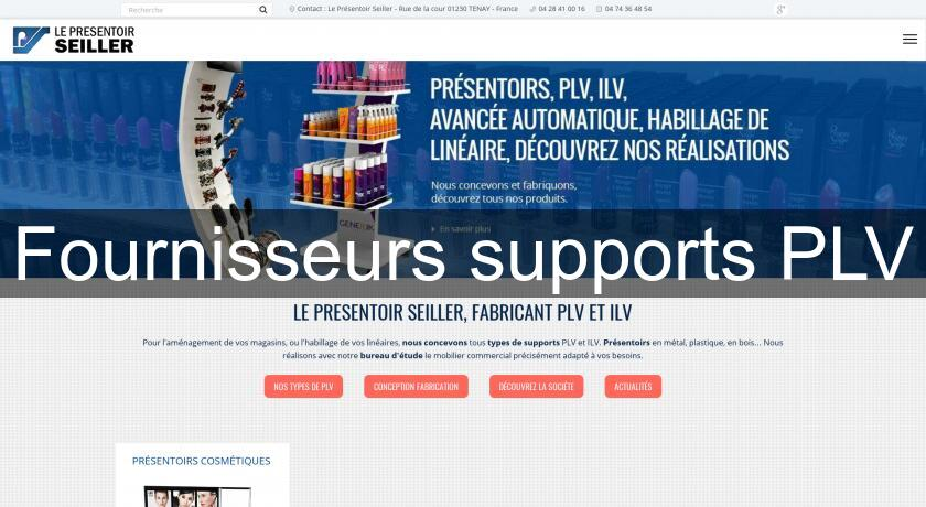 Fournisseurs supports PLV