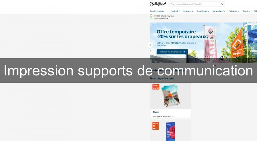 Impression supports de communication