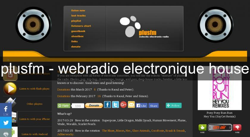 plusfm - webradio electronique house