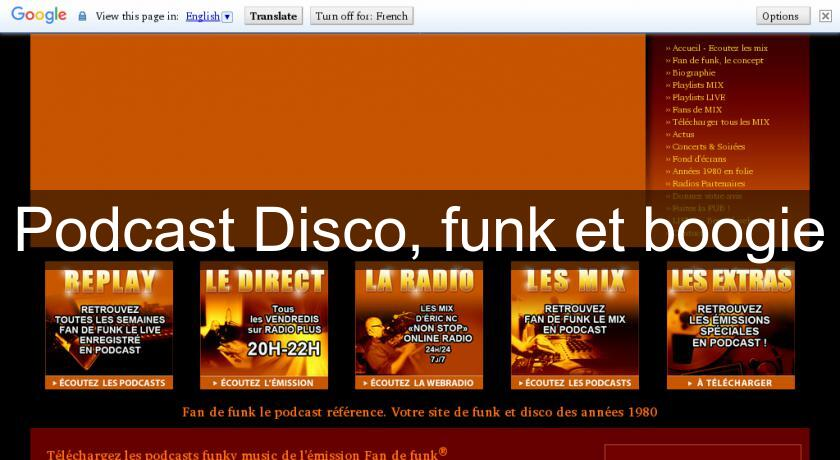 Podcast Disco, funk et boogie