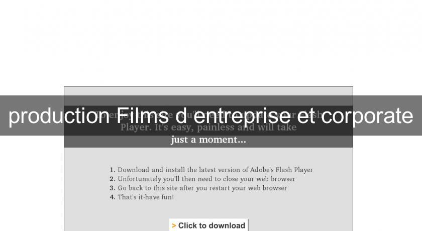 production Films d'entreprise et corporate