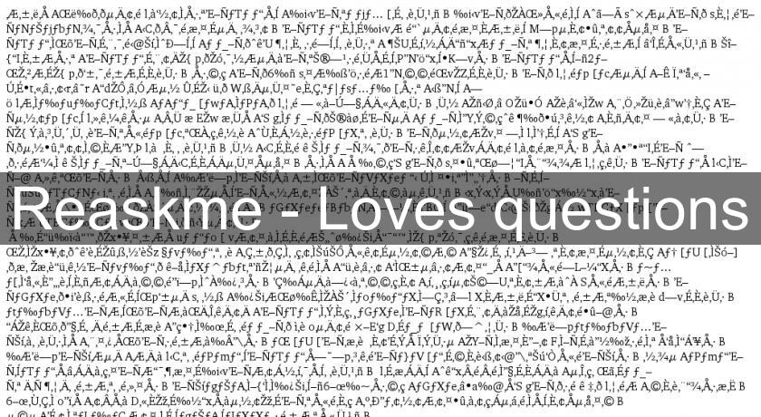 Reaskme - Loves questions