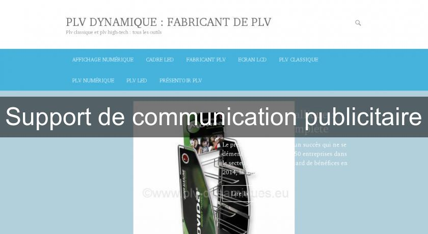 Support de communication publicitaire