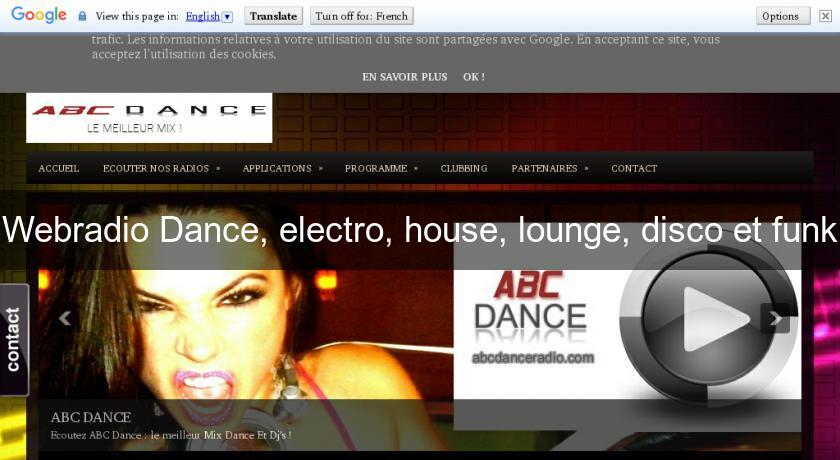 Webradio Dance, electro, house, lounge, disco et funk