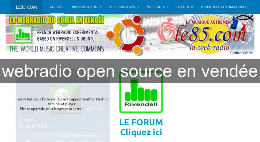 webradio open source en vendée