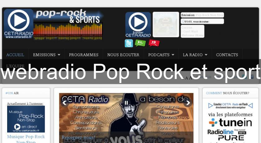 webradio Pop Rock et sport