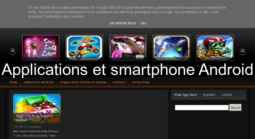Applications et smartphone Android