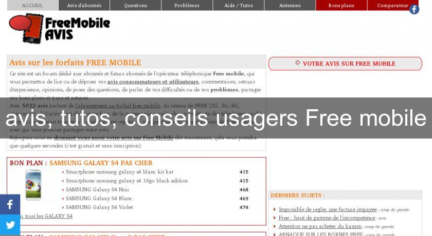 avis, tutos, conseils usagers Free mobile