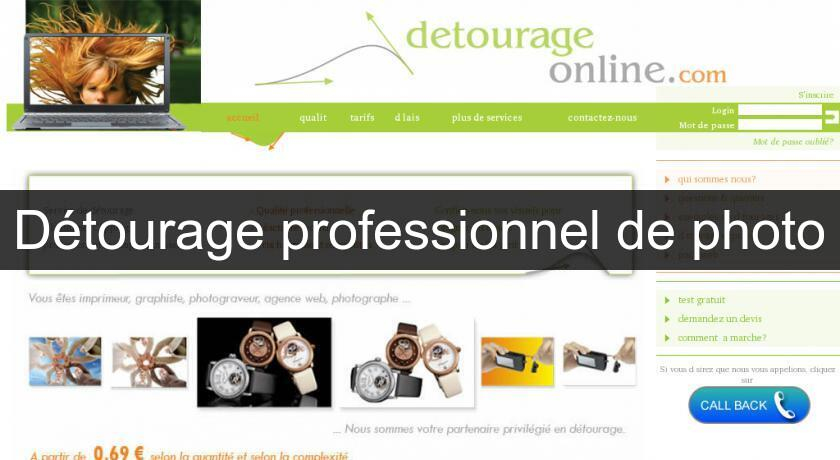 Détourage professionnel de photo
