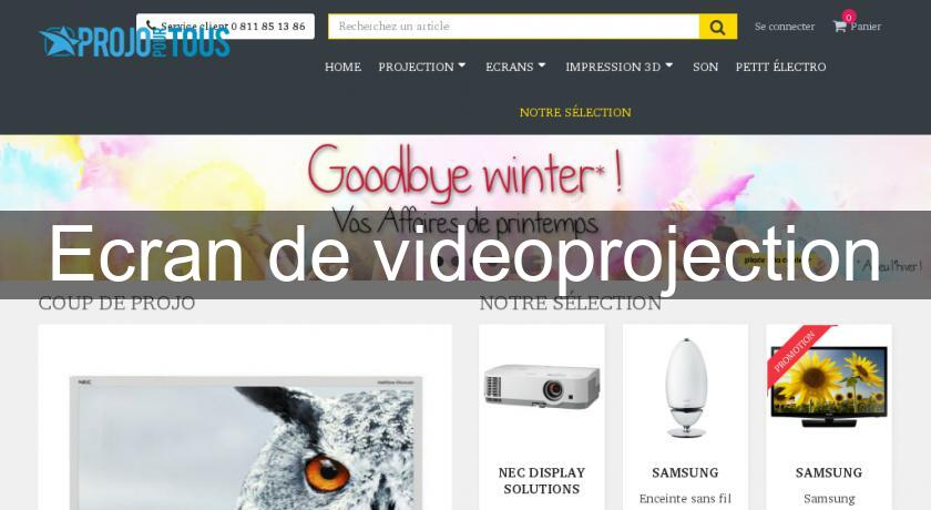 Ecran de videoprojection