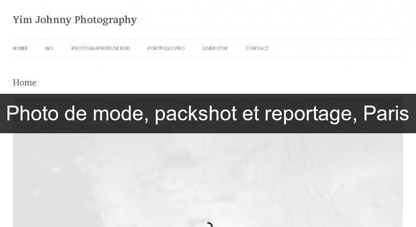 Photo de mode, packshot et reportage, Paris
