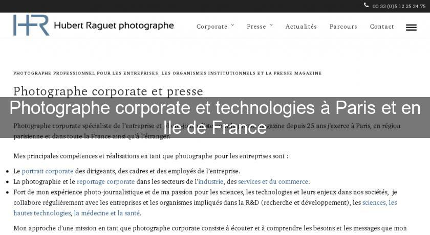 Photographe corporate et technologies à Paris et en Ile de France