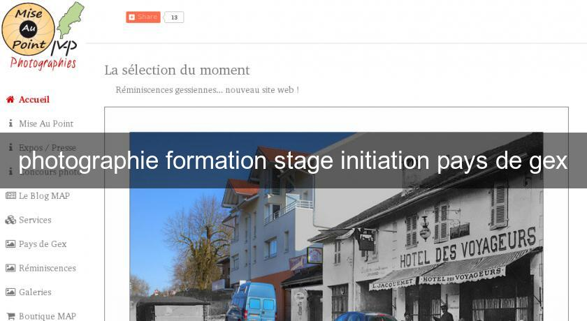 photographie formation stage initiation pays de gex