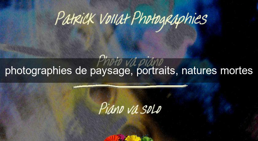 photographies de paysage, portraits, natures mortes