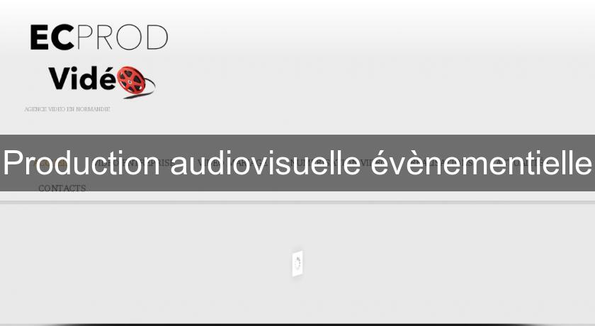 Production audiovisuelle évènementielle