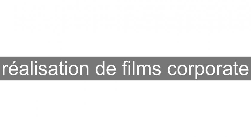 réalisation de films corporate