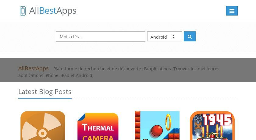 Recherche d'applications mobiles