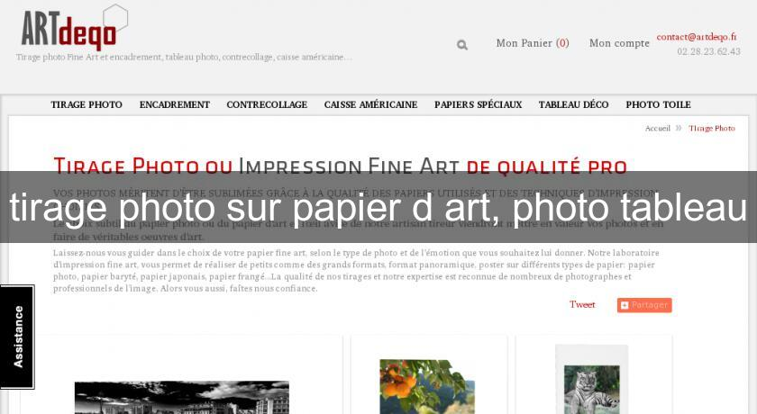 tirage photo sur papier d'art, photo tableau