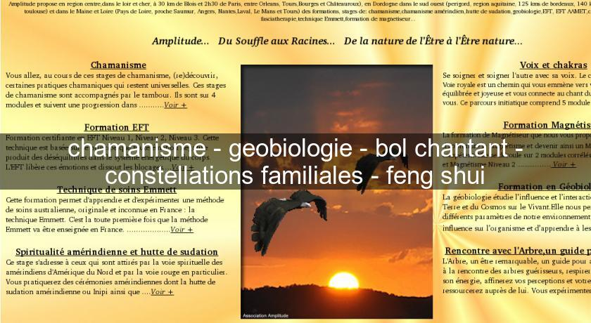 chamanisme - geobiologie - bol chantant - constellations familiales - feng shui