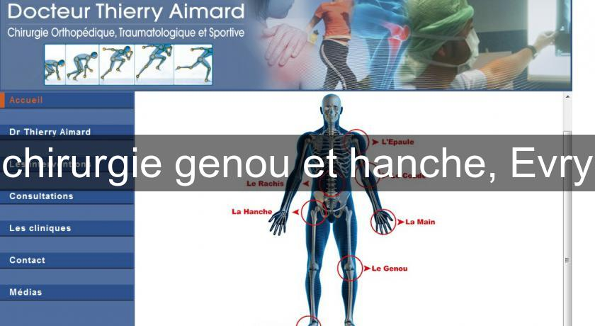 chirurgie genou et hanche, Evry
