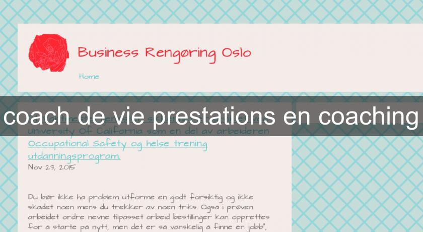 coach de vie prestations en coaching