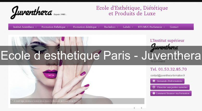 Ecole d'esthetique Paris - Juventhera